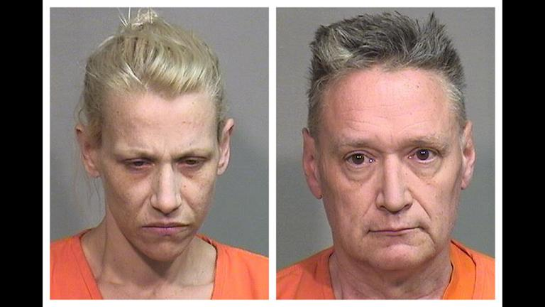 "JoAnn Cunningham, left, and Andrew Freund Sr. have each been charged in the murder of their 5-year-old son, Andrew ""AJ"" Freund. A criminal complaint filed Thursday, April 25, 2019, outlines first-degree murder, aggravated battery and several other charges against the couple. A judge set bail at $5 million for each parent. (McHenry County Sheriff's Department via AP)"
