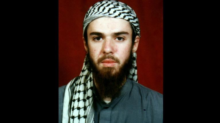 American John Walker Lindh is seen in this undated file photo obtained Tuesday, Jan. 22, 2002, from a religious school where he studied for five months in Bannu, 190 miles southwest of Islamabad, Pakistan. (AP Photo, File)