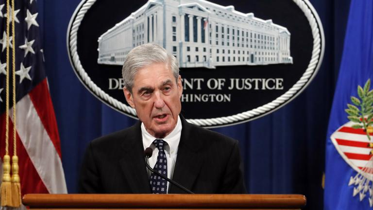Special counsel Robert Muller speaks at the Department of Justice Wednesday, May 29, 2019, in Washington, about the Russia investigation. (AP Photo / Carolyn Kaster)