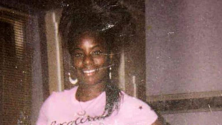 This undated family photo provided by Riccardo Holyfield shows his cousin, Reo Renee Holyfield. Her body was in a dumpster, and nobody found her for two weeks last fall. (Courtesy of Riccardo Holyfield via AP)