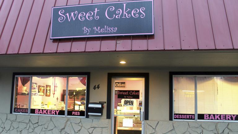 This Feb. 5, 2013, file photo, shows exterior of the now closed Sweet Cakes by Melissa in Gresham, Oregon.  The Supreme Court is throwing out an Oregon court ruling against bakers who refused to make a wedding cake for a same-sex couple. (Everton Bailey Jr. / The Oregonian via AP)