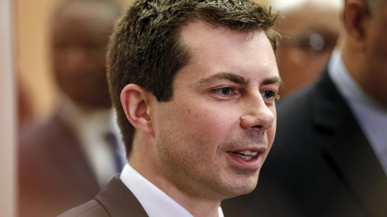 Democratic presidential candidate and South Bend, Indiana, Mayor Pete Buttigieg speaks during a news conference at the Rainbow PUSH Coalition Annual International Convention in Chicago, Tuesday, July 2, 2019. (AP Photo / Amr Alfiky)