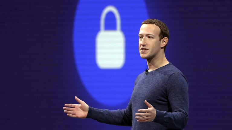 In this May 1, 2018, file photo, Facebook CEO Mark Zuckerberg delivers the keynote speech at F8, Facebook's developer conference, in San Jose, California. (AP Photo / Marcio Jose Sanchez, File)