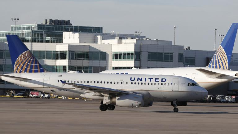 In this June 26, 2019, file photo United Airlines jetliners pass each other at Denver International Airport. (AP Photo / David Zalubowski, File)