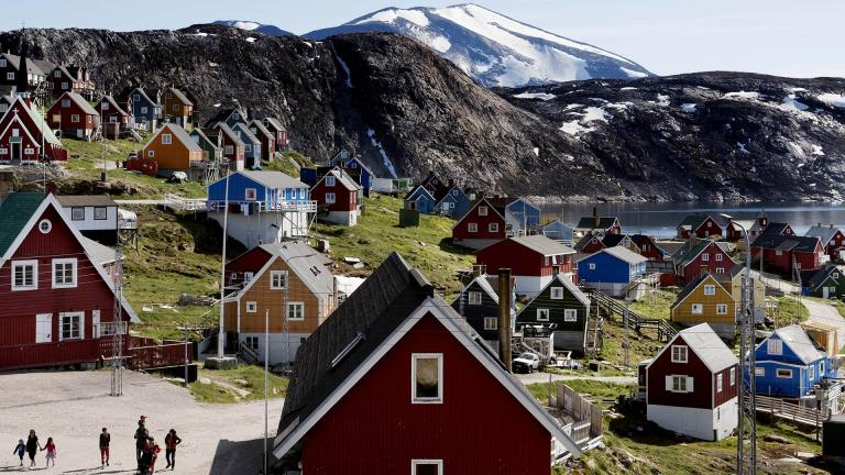 This July 11, 2015 file photo shows a general view of the town of Upernavik in western Greenland. (Linda Kastrup / Ritzau Scanpix via AP)