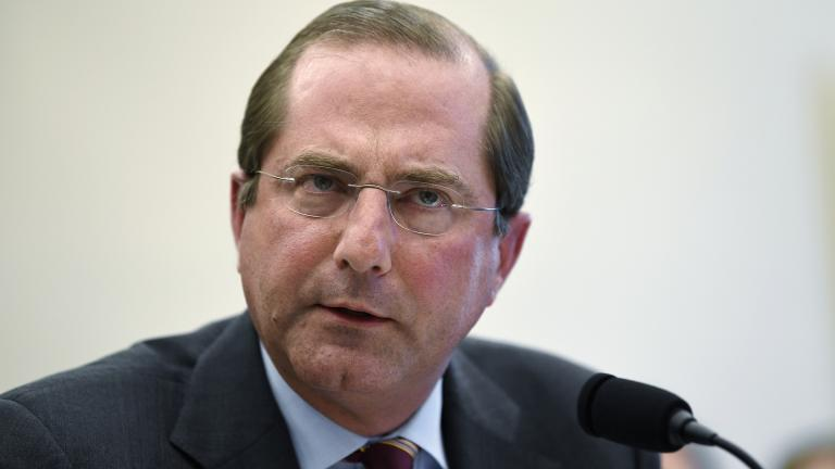 In this March 13, 2019 file photo, Health and Human Services Secretary Alex Azar testifies before a House Appropriations subcommittee on Capitol Hill in Washington. (AP Photo / Susan Walsh)