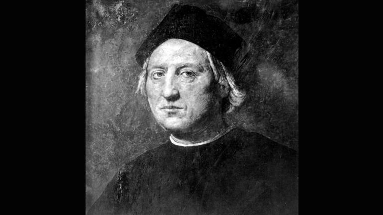 This undated portrait attributed to Rodolfo Ghirlandaia shows Italian explorer Christopher Columbus. (AP Photo)