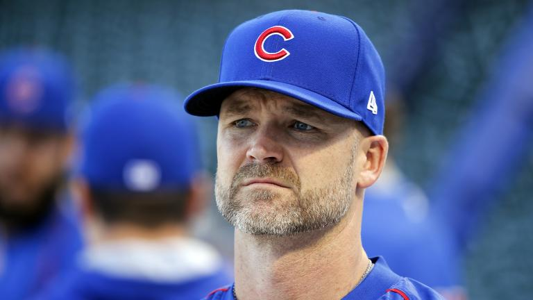 In this Oct. 14, 2016, file photo, Chicago Cubs' David Ross waits for his turn during batting practice before baseball's National League Championship Series against the Los Angeles Dodgers in Chicago. (AP Photo / Charles Rex Arbogast, File)