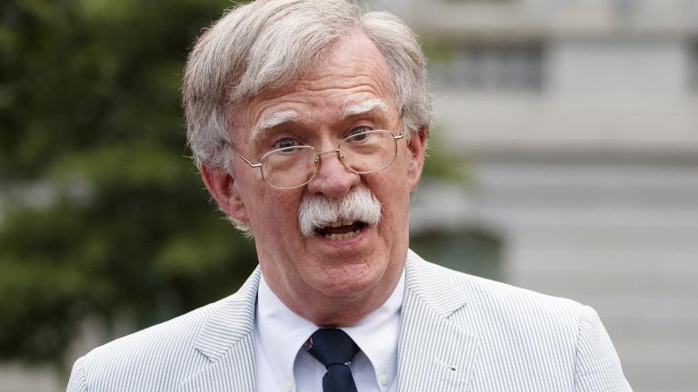 In this July 31, 2019 file photo, National security adviser John Bolton speaks to media at the White House in Washington. (AP Photo / Carolyn Kaster)