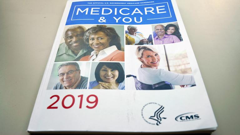 In this Nov. 8, 2018, file photo, the U.S. Medicare Handbook is photographed, in Washington. (AP Photo / Pablo Martinez Monsivais, File)