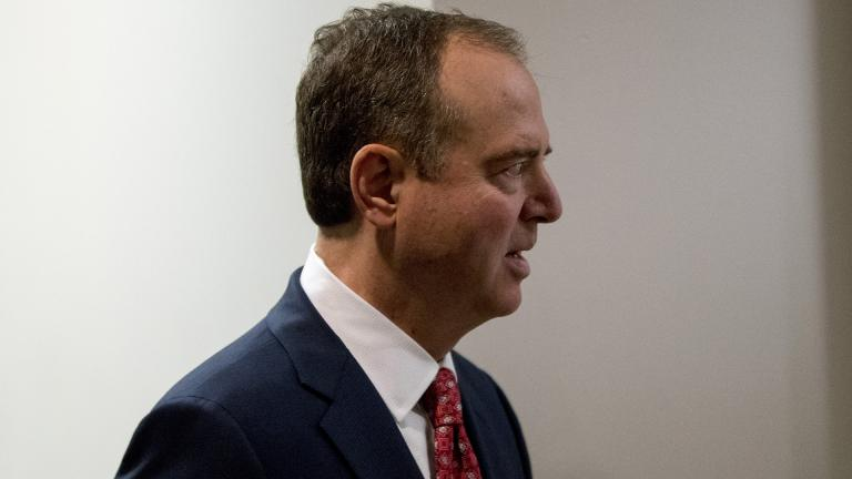 Rep. Adam Schiff, D-Calif., Chairman of the House Intelligence Committee, arrives at a closed door meeting on the ongoing House impeachment inquiry into President Donald Trump on Capitol Hill in Washington, Tuesday, Nov. 5, 2019. (AP Photo / Andrew Harnik)