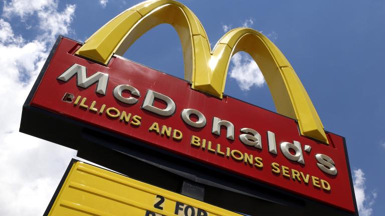 In this June 25, 2019 file photo a sign is displayed outside a McDonald's restaurant in Pittsburgh.(AP Photo / Gene J. Puskar, File)