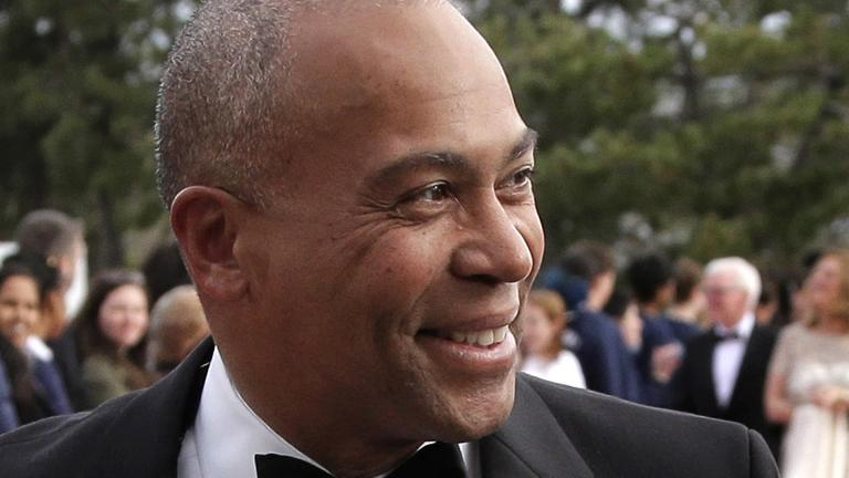 In this May 7, 2017 file photo, former Massachusetts Gov. Deval Patrick arrives at the John F. Kennedy Presidential Library and Museum in Boston for the 2017 Profile in Courage award ceremony.  (AP Photo / Steven Senne, File)