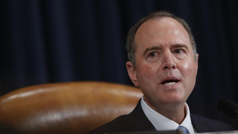 House Intelligence Committee Chairman Adam Schiff, D-Calif., give final remarks during a hearing where former White House national security aide Fiona Hill, and David Holmes, a U.S. diplomat in Ukraine, testified before the House Intelligence Committee on Capitol Hill in Washington, Thursday, Nov. 21, 2019, during a public impeachment hearing of President Donald Trump's efforts to tie U.S. aid for Ukraine to investigations of his political opponents. (AP Photo / Andrew Harnik)