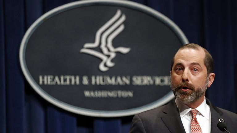 Health and Human Services Secretary Alex Azar speaks at a news conference about the federal government's response to a virus outbreak originating in China, Tuesday, Jan. 28, 2020, in Washington. (AP Photo / Patrick Semansky)