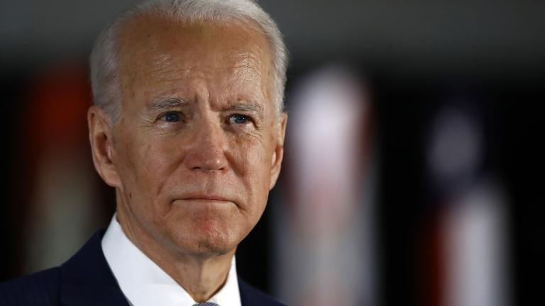 Democratic presidential candidate former Vice President Joe Biden speaks to members of the press at the National Constitution Center in Philadelphia, Tuesday, March 10, 2020. (AP Photo / Matt Rourke)