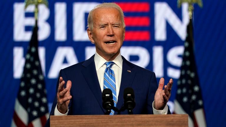 Democratic presidential candidate former Vice President Joe Biden speaks Wednesday, Nov. 4, 2020, in Wilmington, Del. (AP Photo / Carolyn Kaster)