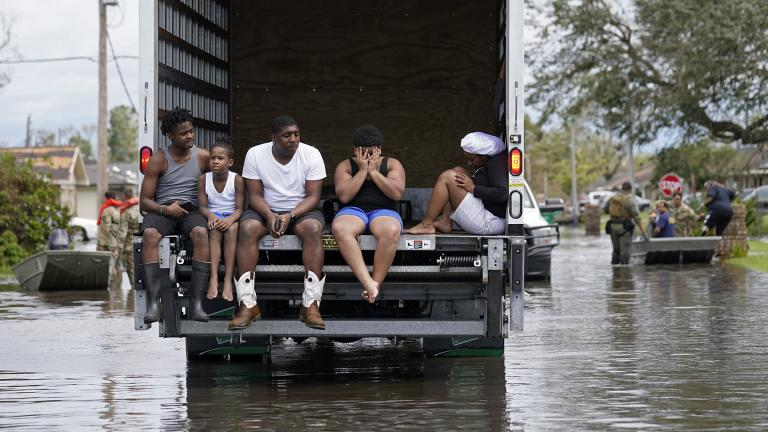 People are evacuated from floodwaters in the aftermath of Hurricane Ida in LaPlace, La., Monday, Aug. 30, 2021. (AP Photo / Gerald Herbert)
