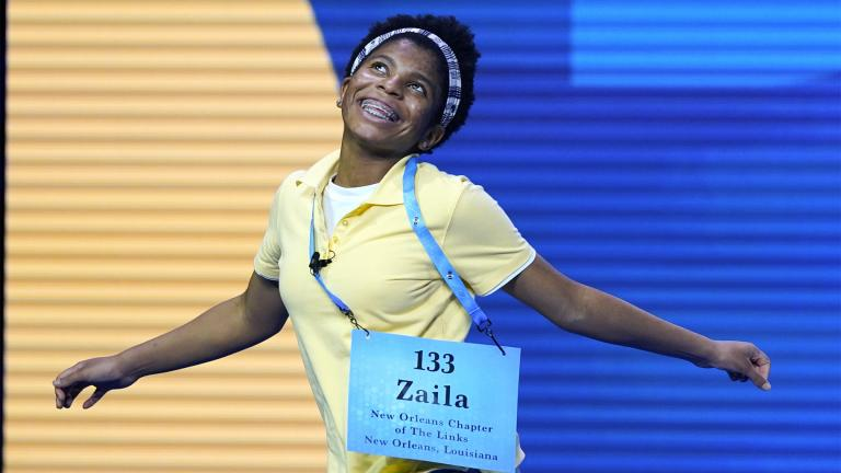 Zaila Avant-garde, 14, from Harvey, Louisiana celebrates after winning the finals of the 2021 Scripps National Spelling Bee at Disney World Thursday, July 8, 2021, in Lake Buena Vista, Fla. (AP Photo  /John Raoux)