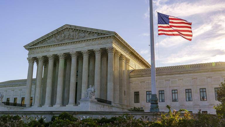 The flag flies at half-staff at the Supreme Court on the morning after the death of Justice Ruth Bader Ginsburg, 87, Saturday, Sept. 19, 2020 in Washington. (AP Photo / J. Scott Applewhite)