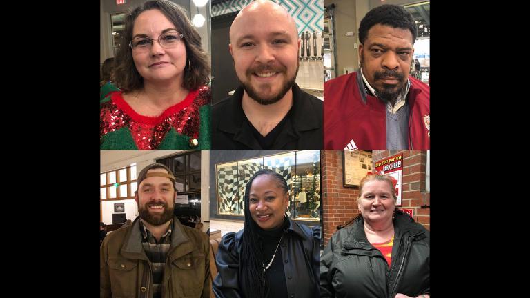 This combination of photographs shows, top row from left: Aimee Brewer, Ben Bolen, Mark McQueen, bottom row from left: Morgan O'Sullivan, Natasha Adams, Alice Cutting, Wednesday, Dec. 18, 2019. (AP Photo)