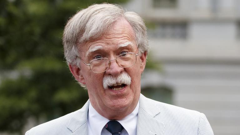 In this July 31, 2019 file photo, then-national security adviser John Bolton speaks to media at the White House in Washington. (AP Photo / Carolyn Kaster)