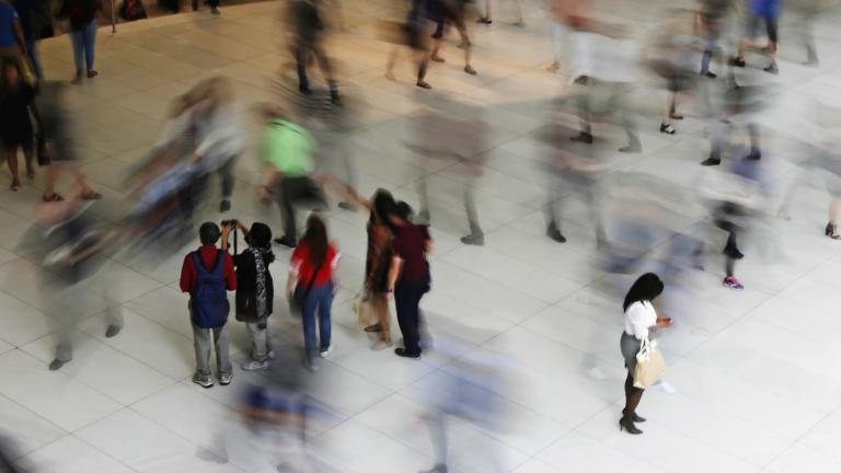 In this June 15, 2017, file photo, people walk inside the Oculus, the new transit station at the World Trade Center in New York. (AP Photo / Frank Franklin II, File)