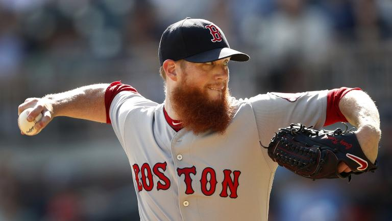 In this Sept. 3, 2018, file photo, Boston Red Sox relief pitcher Craig Kimbrel works against the Atlanta Braves in the ninth inning of baseball game, in Atlanta. (AP Photo / John Bazemore, File)