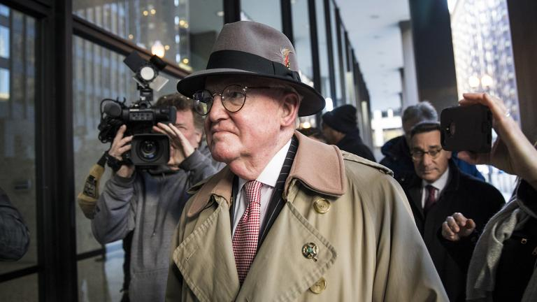 Ald. Ed Burke, 75, walks into the Dirksen Federal Courthouse on Thursday, Jan. 3, 2019. (Ashlee Rezin / Chicago Sun-Times via AP)