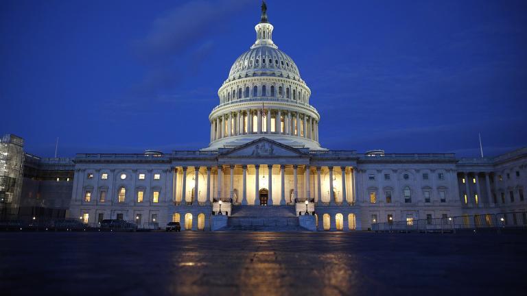 In this Dec. 4, 2019, file photo, light shines on the U.S. Capitol dome in Washington. (AP Photo / Patrick Semansky, File)
