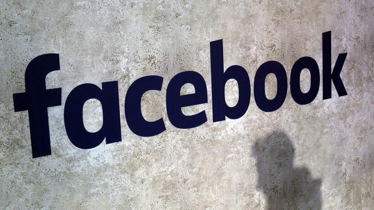 This Jan. 17, 2017, file photo shows a Facebook logo at Station F in Paris. Facebook has decided not to limit how political ads can be targeted to specific groups of people, as its main digital-ad rival Google did in November 2019 to fight misinformation. (AP Photo / Thibault Camus, File)