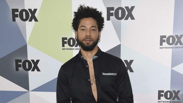 "In this May 14, 2018 file photo, Jussie Smollett, a cast member in the TV series ""Empire,"" attends the Fox Networks Group 2018 programming presentation after-party in New York. (Photo by Evan Agostini / Invision / AP, File)"