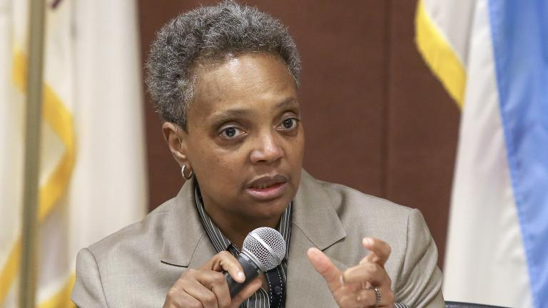In this March 24, 2019 photo, Chicago mayoral candidate Lori Lightfoot participates in a candidate forum sponsored by One Chicago For All Alliance at Daley College in Chicago. (AP Photo / Teresa Crawford)