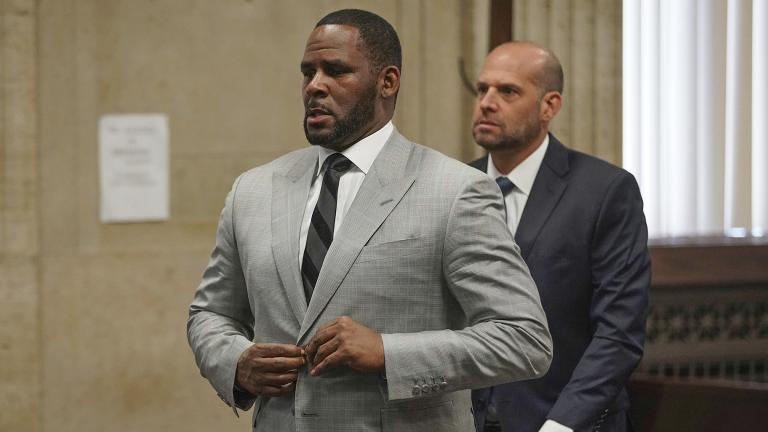 In this June 6, 2019 file photo, singer R. Kelly appears at a court hearing before Judge Lawrence Flood in Chicago. (E. Jason Wambsgans / Chicago Tribune via AP, Pool)