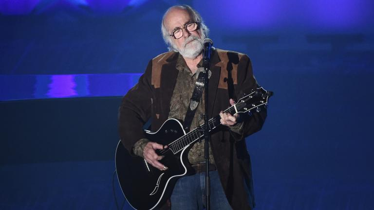 This June 18, 2015 file photo shows Robert Hunter at the 46th Annual Songwriters Hall Of Fame Induction and Awards Gala in New York. (Photo by Evan Agostini / Invision / AP, File)