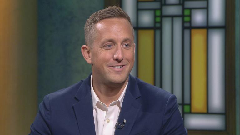 "Aaron Lawlor appears on ""Chicago Tonight"" on Sept. 24, 2019."