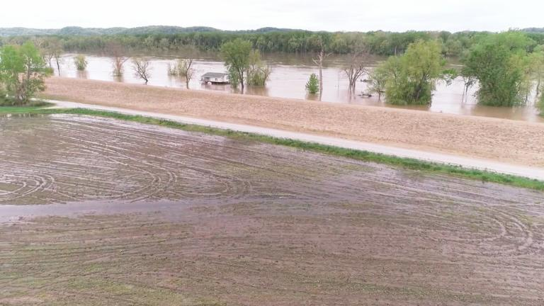 Spring flooding in Illinois (Courtesy Illinois Farm Bureau)