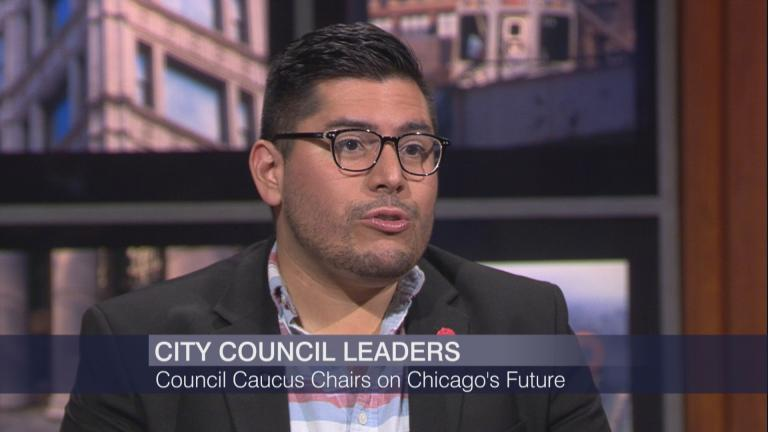 "Ald. Carlos Ramirez-Rosa, 35th Ward, appears on ""Chicago Tonight"" on July 3, 2019."