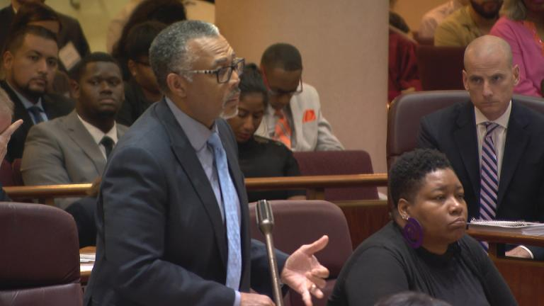 In this file photo, Ald. Howard Brookins (22nd Ward) speaks at a Chicago City Council meeting. (WTTW News)