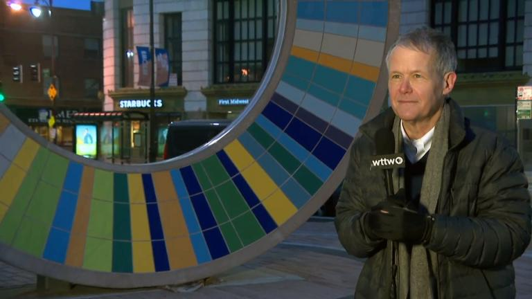 """Ald. James Cappleman, 46th Ward, appears on """"Chicago Tonight"""" from Uptown on March 31, 2020. (WTTW News)"""