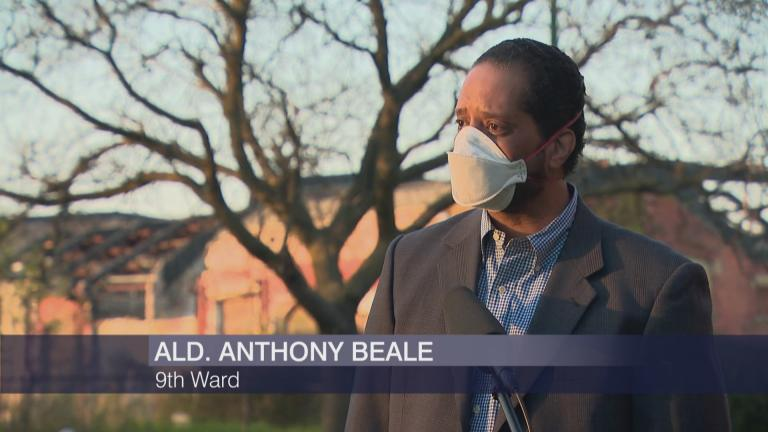 "Ald. Anthony Beale appears on ""Chicago Tonight"" on Tuesday, May 12, 2020. (WTTW News)"