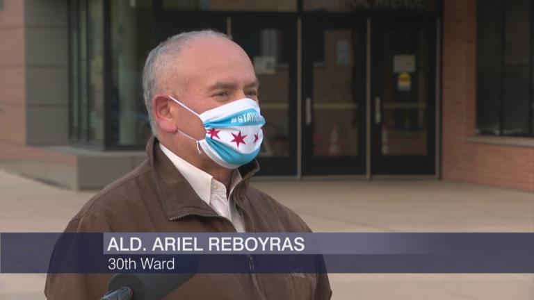 "30th Ward Ald. Ariel Reboyras appears on ""Chicago Tonight"" on Monday, May 11, 2020. (WTTW News)"