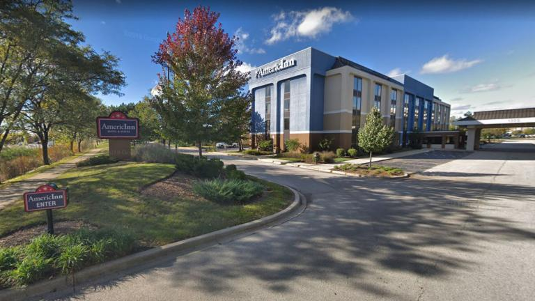 State and local health departments recently linked two confirmed cases of Legionnaires' disease to the AmericInn by Wyndham Hotel, located at 1300 E. Higgins Road in Schaumburg. (Google Maps)