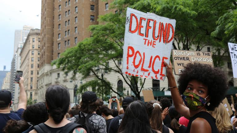 Protesters march Saturday, June 6, 2020, in New York. Demonstrations continue across the United States in protest of racism and police brutality, sparked by the May 25 death of George Floyd in police custody in Minneapolis. (AP Photo / Ragan Clark)