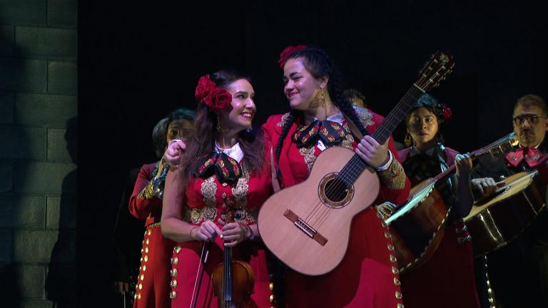 """We go behind the scenes of """"American Mariachi,"""" a co-production between the Dallas Theater Center and the Goodman Theatre, set in 1970s Chicago. (WTTW News)"""