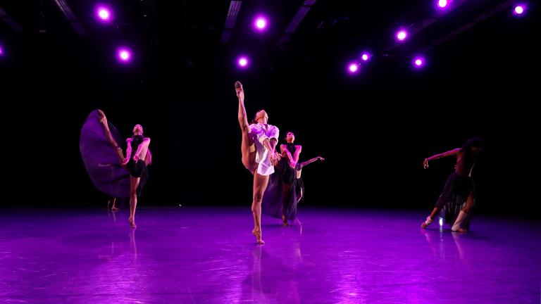 Anais Bueno with Brooke Linford and Christine Roca (Courtesy of the Joffrey Ballet)