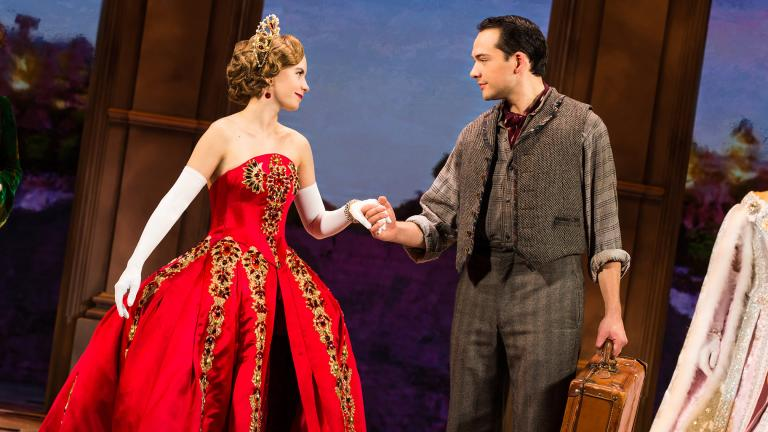 "Lila Coogan and Stephen Brower in ""Anastasia."" (Photo by Evan Zimmerman, MurphyMade)"