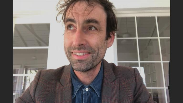 "Andrew Bird appears on ""Chicago Tonight"" via Zoom on Tuesday, Nov. 24, 2020. (WTTW News)"