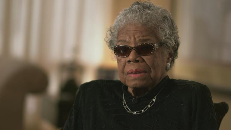"Maya Angelou in a scene from the documentary ""Maya Angelou: And Still I Rise."""