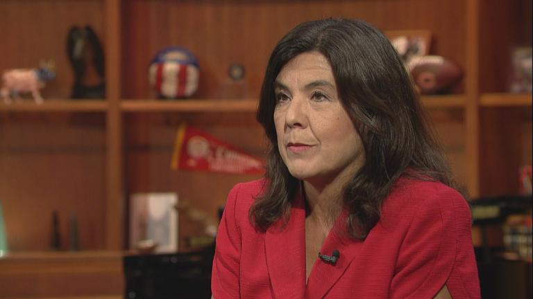 "Former Cook County State's Attorney Anita Alvarez appears on ""Chicago Tonight"" on Sept. 8, 2016."